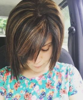 5 Coffee Colored Edgy Bob